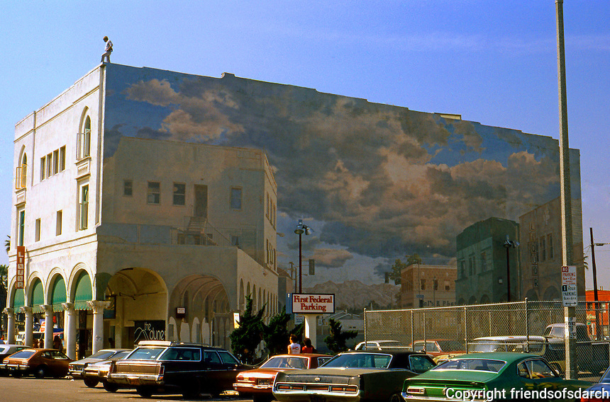 Venice CA: Old Center, Mural, Windward Ave.   Photo '82.