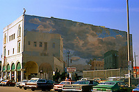 Venice CA: Old Center, Mural, Windward Ave.   Photo '82.