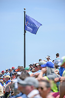 The Players flag flies high above the crowd on the third tee during round 1 of The Players Championship, TPC Sawgrass, at Ponte Vedra, Florida, USA. 5/10/2018.<br /> Picture: Golffile | Ken Murray<br /> <br /> <br /> All photo usage must carry mandatory copyright credit (&copy; Golffile | Ken Murray)
