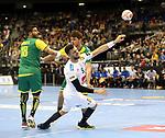 11.01.2019, Mercedes Benz Arena, Berlin, GER, BRA vs. FRA, im Bild <br /> Felipe Borges (BRA #18), Haniel Langaro (BRA #37), Nedim Remili (FRA #5)<br /> <br />      <br /> Foto &copy; nordphoto / Engler