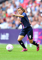 August 06, 2012..Japan's Nahomi Kawasumi MF during Semi Final match at the Wembley Stadium on day ten in Wembley, England. Japan defeats France 2-1 to reach Women's Finals of the 2012 London Olympics.
