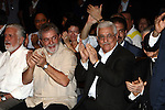 """Palestinian President Mahmoud Abbas participates in the celebrations of Brazil Day """"freedom from slavery"""" in the city of Salvador, Bahia State, in Brazil  on Nov 21, 2009. Abbas' travels here come as Brazil steps up its peacemaker role in the Middle East. In his meetings with Abbas, Lula was expected to reaffirm his support for an intervention by the international community that could lead eventually to the peace agreement that has eluded the region despite decades of diplomacy. Photo by Omar Rashidi"""