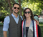George Nicholas and Heidi Schefcik during the University of Nevada College of Liberal Arts and Donald W. Reynolds School of Journalism graduation ceremony on Saturday morning, May 20, 2017.
