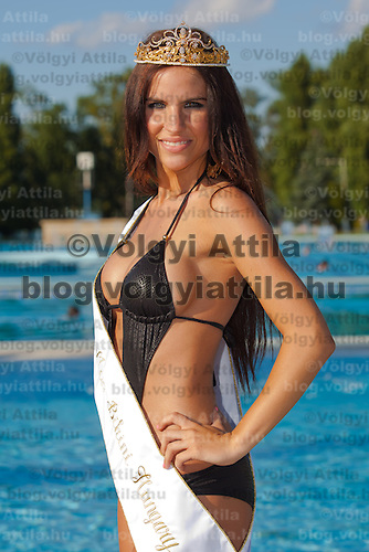 Vanda Szamos won the crown of the Miss Bikini Hungary beauty contest held in Budapest, Hungary. Sunday, 29. August 2010. ATTILA VOLGYI