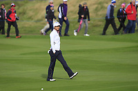 Azahara Munoz of Team Europe on the 7th fairway during Day 2 Foursomes at the Solheim Cup 2019, Gleneagles Golf CLub, Auchterarder, Perthshire, Scotland. 14/09/2019.<br /> Picture Thos Caffrey / Golffile.ie<br /> <br /> All photo usage must carry mandatory copyright credit (© Golffile | Thos Caffrey)