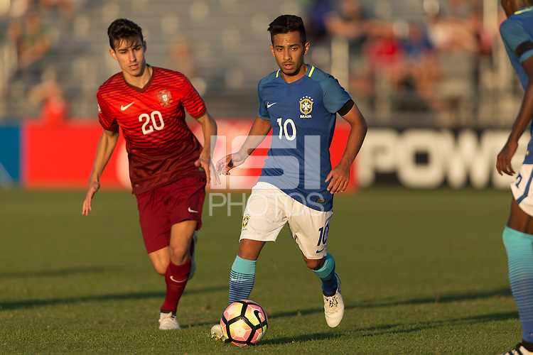 LAKEWOOD RANCH, FL - December 2, 2016: U-17s Brazil vs Portugal at the 2016 Nike International Friendlies at Premier Sports Campus.
