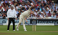 England's Ben Stokes takes the wicket of South Africa's Dean Elgar<br /> <br /> Photographer Stephen White/CameraSport<br /> <br /> Investec Test Series 2017 - Second Test - England v South Africa - Day 3 - Sunday 16th July 2017 - Trent Bridge - Nottingham<br /> <br /> World Copyright &copy; 2017 CameraSport. All rights reserved. 43 Linden Ave. Countesthorpe. Leicester. England. LE8 5PG - Tel: +44 (0) 116 277 4147 - admin@camerasport.com - www.camerasport.com