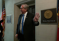United States Representative Mark Meadows (Republican of North Carolina) departs the U.S. House Permanent Select Committee on Intelligence hearing where they heard from Former U.S. Ambassador to Ukraine Marie Yovanovitch on Capitol Hill in Washington D.C., U.S., on Friday, November 15, 2019. <br /> <br /> Credit: Stefani Reynolds / CNP/AdMedia