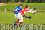 Laune Rangers Shane McSweeney and East Kerry's Eoin Lawlor.   Copyright Kerry's Eye 2008
