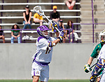 Jakob Patterson (#17) looks for a shot as UAlbany Lacrosse defeats Vermont 14-4  in the American East Conference Championship game at Casey Stadium, May 5.