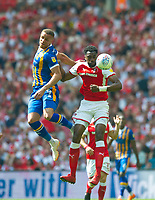 Shrewsbury Carlton Morris during the Sky Bet League 1 Play Off FINAL match between Rotherham United and Shrewsbury Town at Wembley, London, England on 27 May 2018. Photo by Andrew Aleksiejczuk / PRiME Media Images.