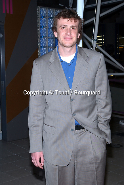 Jason Segel arriving at the premiere of Slackers at the Hollywood Galaxy Theatre in Los Angeles. January 29, 2002.           -            SegelJason01.jpg