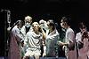 London, UK. 27.09.2015.  Yabin Studio & Eastman / Sidi Larbi Cherkaoui presents   GENESIS生长 at Sadler's Wells Theatre 28-29 September. Dancers are: Yabin Wang, Li Chao, Kazutomi Kozuki, Elias Lazaridis, Johnny Lloyd, Fang Yin, Qing Wang. Musicians are: Manjunath B Chandramouli, Barbara Drazkowska, Kaspy Kusosa Kuyubuka, Woojae Park.  Photo - © Foteini Christofilopoulou.