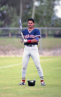 Boston Red Sox Jose Zambrano during spring training circa 1992 at Chain of Lakes Park in Winter Haven, Florida.  (MJA/Four Seam Images)