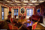Venaria Reale. Parco Regionale La Mandria. Appartamenti Reali di Borgo Castello, interni.
