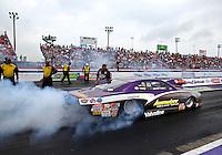 Apr 27, 2014; Baytown, TX, USA; NHRA pro stock driver Vincent Nobile during the Spring Nationals at Royal Purple Raceway. Mandatory Credit: Mark J. Rebilas-