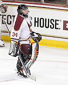 Ryan Polischuk (BC - 34) - The Boston College Eagles defeated the visiting Boston University Terriers 6-2 in ACHA play on Sunday, December 4, 2011, at Kelley Rink in Conte Forum in Chestnut Hill, Massachusetts.