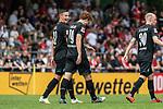 20.07.2019, Heinz-Dettmer-Stadion, Lohne, GER, Interwetten Cup, SV Werder Bremen vs 1. FC Koeln<br /> <br /> im Bild<br /> Jubel 1:0, Joshua Sargent (Werder Bremen #19) bejubelt seinen Treffer zum 1:0 mit Marco Friedl (Werder Bremen #32), <br /> <br /> Foto © nordphoto / Ewert