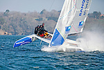 Diam 24 One Design, light, sporty, powerful, winged and designed to race with three or four people on board. The Diam 24OD is fast in light winds and confident in stronger breeze without the necessity for high level sporting prowess. The Diam 24 the new boat for the Tour de France à la Voile 2015.<br /> Banque Populaire, Skipper Armel Le Cléac'H, crew: Ronan Lucas, Fabien Delahaye