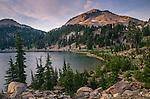 Lassen Peak rising over Lake Helen, Lassen Volcanic National Park, California