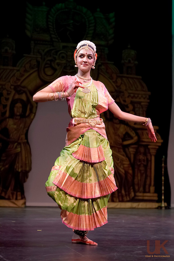 Namrata performing her Arangetram at the Eisemann Center, Texas