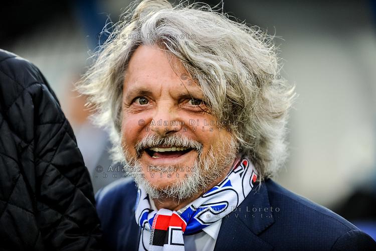 Massimo Ferrero (Sampdoria) during the Italian Serie A football match Pescara vs Sampdoria on October 15, 2016, in Pescara, Italy. Photo Adamo Di Loreto/BuenaVista*photo