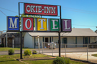 The Okie-Inn Motel in Claremore Oklahoma on Route 66.