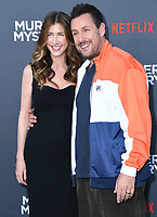 "10 June 2019 - Westwood, California - Jackie Sandler, Adam Sandler. Netflix's ""Murder Mystery"" Los Angeles Premiere held at Regency Village Theater. Photo Credit: Birdie Thompson/AdMedia"