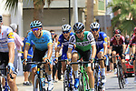 The peloton including Omar Fraile (ESP) Astana Pro Team pass through Almussafes during Stage 4 of La Vuelta 2019 running 175.5km from Cullera to El Puig, Spain. 27th August 2019.<br /> Picture: Eoin Clarke | Cyclefile<br /> <br /> All photos usage must carry mandatory copyright credit (© Cyclefile | Eoin Clarke)