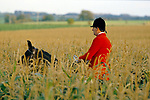 Vale of White Horse, fox hunting 1980s England.