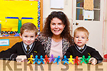 Noreen Murphy with her 2018 junior infants at Brosna NS on Wednesday (no name Policy)
