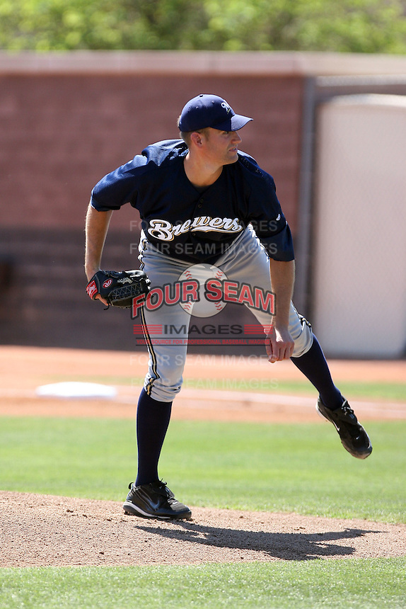 Evan Frederickson, Milwaukee Brewers 2010 extended spring training..Photo by:  Bill Mitchell/Four Seam Images.