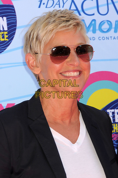 Ellen DeGeneres.FOX's 2012 Teen Choice Awards held at The Gibson Ampitheatre in Universal City, California, USA..July 22nd, 2012.headshot portrait black blazer white top sunglasses shades smiling  .CAP/ADM/BP.©Byron Purvis/AdMedia/Capital Pictures.