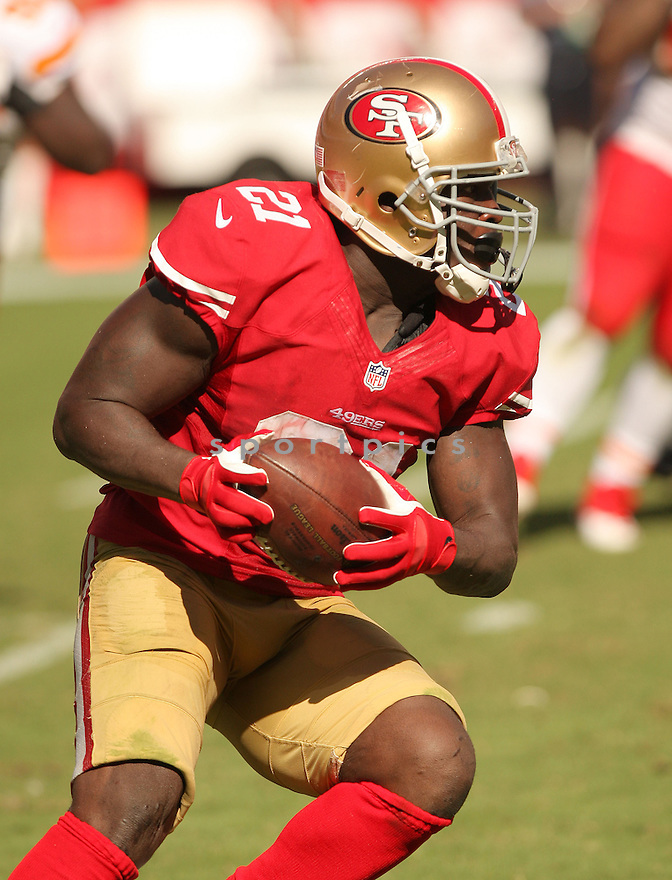 San Francisco 49ers Frank Gore (21) during a game against the Kansas City Chiefs on October 5, 2014 at Levi's Stadium in Santa Clara, CA. the 49ers beat the Chiefs 22-17.