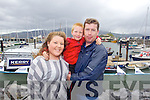 SUMMER FUN: Attending the Fenit Lifeboat Regatta on Sunday l-r: Clodagh Roche, Luke James O'Connor and Kenneth Raymond, Tralee..