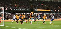 Raúl Jimenez of Wolverhampton Wanderers heads away during Wolverhampton Wanderers vs Brighton & Hove Albion, Premier League Football at Molineux on 7th March 2020