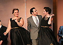 """CSTOCK is presenting the musical  """"White Christmas"""" Dec 2-18 at their Silverdale theater. This production  adaptation features seventeen Irving Berlin songs. Actors Katie Mahaney, Eric Richardson and Allison Verhofstadt perform a scene during rehearsal Monday. Brad Camp 
