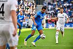 07.10.2018, wirsol Rhein-Neckar-Arena, Sinsheim, GER, 1 FBL, TSG 1899 Hoffenheim vs Eintracht Frankfurt, <br /><br />DFL REGULATIONS PROHIBIT ANY USE OF PHOTOGRAPHS AS IMAGE SEQUENCES AND/OR QUASI-VIDEO.<br /><br />im Bild: Kevin Akpoguma (TSG Hoffenheim #25)<br /><br />Foto &copy; nordphoto / Fabisch
