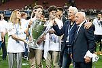 American actor Richard Gere, his sons and his girlfriend Alejandra Silva celebrates the victory in the UEFA Champions League 2015/2016 Final match with Agustin Herein, Real Madrid's Court Delegate.May 28,2016. (ALTERPHOTOS/Acero)