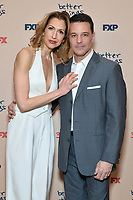 "NEW YORK - MARCH 4: (L-R) Alysia Reiner  and David Alan Basche attend the season 4 premiere of FX's ""Better Things"" at the Whitby Hotel on March 4, 2020 in New York City. (Photo by Anthony Behar/FX Networks/PictureGroup)"
