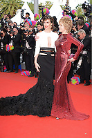 "Paz Vega and Jane Fonda attending the ""Madagascar III"" Premiere during the 65th annual International Cannes Film Festival in Cannes, France, 18.05.2012..Credit: Timm/face to face/MediaPunch Inc. ***FOR USA ONLY***"