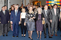 Cayetana Martinez de Irujo, Queen Sofia of Spain, Duchess of Alba, Cayetana Fitz-James Stuart, husband Alfonso Diez and Cayetano Martinez de Irujo attend 'El Legado Casa de Alba' Art exhibition at the Palacio de Cibeles . December 18, 2012. (ALTERPHOTOS/Caro Marin) /NortePHOTO