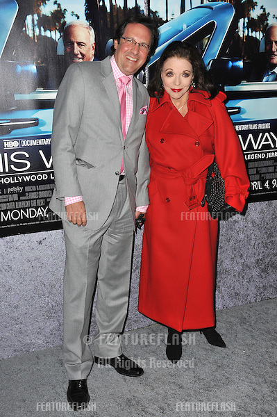 "Joan Collins & husband Percy Gibson at the premiere of the HBO Documentary ""His Way"", about legendary film producer & manager Jerry Weintraub, at Paramount Studios, Hollywood..March 22, 2011  Los Angeles, CA.Picture: Paul Smith / Featureflash"