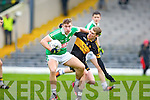 Gavin O'Shea  Dr Crokes tackles Legion's James O'Donoghue during the O'Donoghue cup final in Fitzgerald Stadium on Sunday