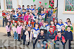 COMING HOME: Teachers and students of Scoil Mhuire, Fadbhach and Mid-Kerry stars Kieran Foley, Gary Sayers (former pupils) and Aaron Cahillane with the Bishop Moriarty Cup at the school on Tuesday, 2nd December.   Copyright Kerry's Eye 2008