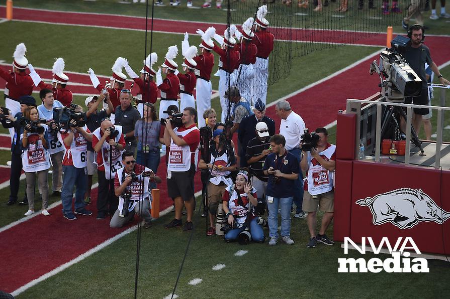 NWA Democrat-Gazette/MICHAEL WOODS &bull; @NWAMICHAELW<br /> University of Arkansas Razorbacks vs the Texas State Bobcats, Saturday, September 17, at Razorback Stadium in Fayetteville.