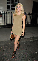 Victoria Louise &quot;Pixie&quot; Lott departs from the stage door after the &quot;Breakfast at Tiffany's&quot; evening performance, Theatre Royal Haymarket, Suffolk Street, London, England, UK, on Friday 12 August 2016.<br /> CAP/CAN<br /> &copy;CAN/Capital Pictures /MediaPunch ***NORTH AND SOUTH AMERICAS ONLY***