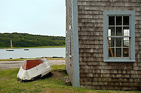 Rwoboat and boathouse detail, Chatham, Cape Cod, MA, USA