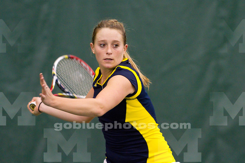 The University of Michigan women's tennis team defeats Virginia Tech, 6 - 1, at the Varsity Tennis Center in Ann Arbor, Mich., on Jan. 25, 2014.