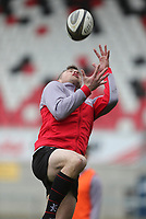 Thursday 12th April 2018 | Ulster Rugby Captain's Run<br /> <br /> Tommy Bowe during Captain's Run held at Kingspan Stadium, Ravenhill Park, Belfast, Northern Ireland. Photo by John Dickson / DICKSONDIGITAL